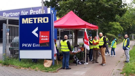 Streiks im Groß- und Außenhandel Hamburg