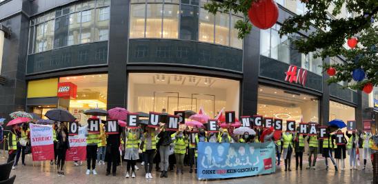 Streiks im Einzelhandel Hamburg